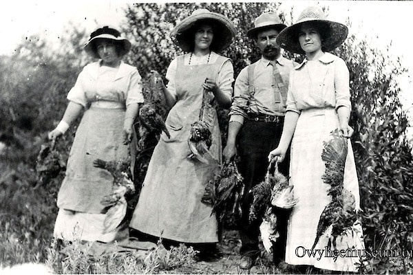 Sage Hens. Women and Man hunting